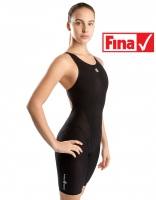 Junior racing open back swimsuit MW EXT Bodyshell Mad Wave®black
